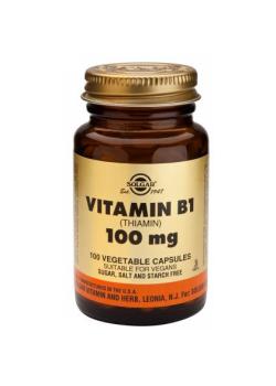 VITAMINA B1 (TIAMINA) 100MG 100 CAPSULAS - SOLGAR - 033984029507