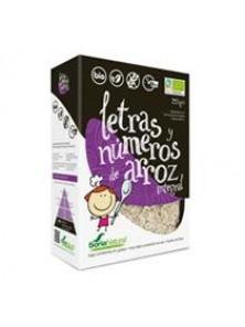 SOPA DE LETRAS Y NUMEROS DE ARROZ INTEGRAL 160GR BIO - SORIA NATURAL - 8422947400514