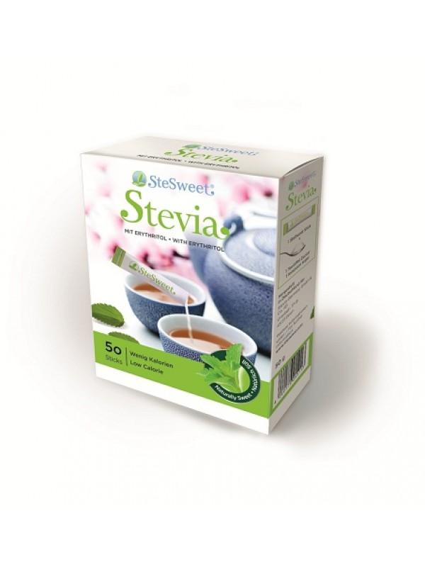 STEVIA CON INULINA 50 STICK - STESWEET - 4260179255137