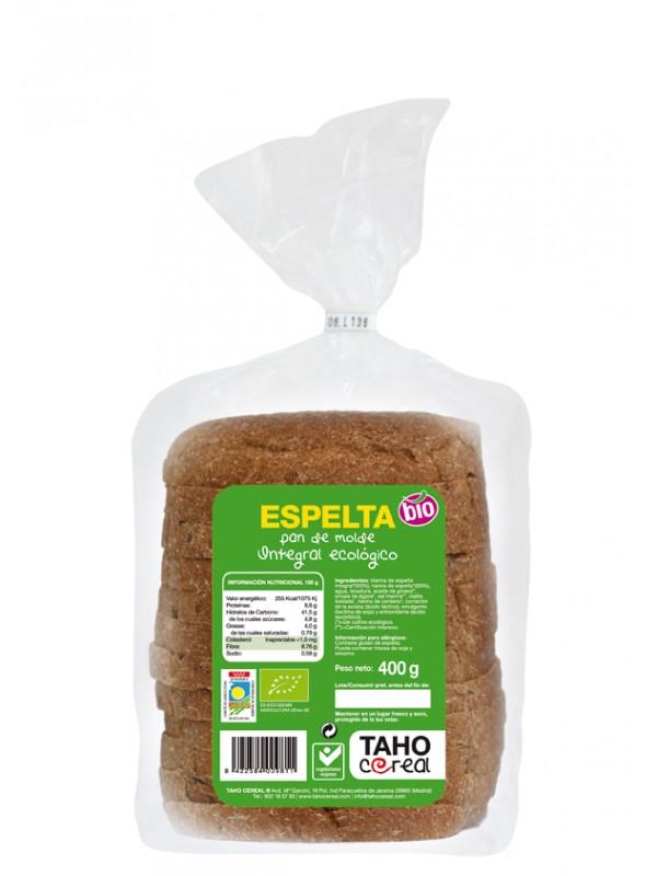 PAN DE MOLDE DE ESPELTA 400GR BIO - TAHO CEREAL - 8422584009811