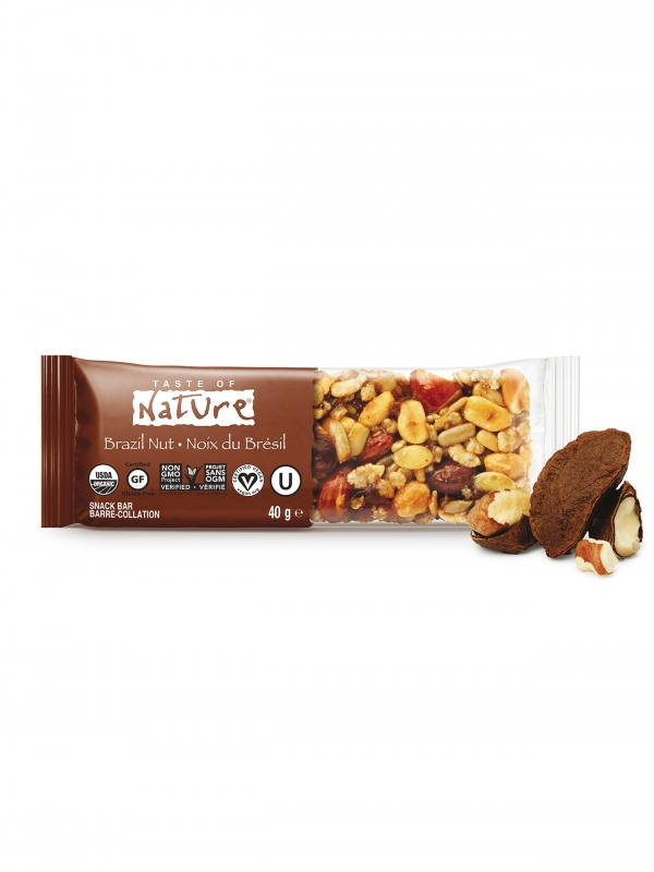 BARRITA DE NUECES DE BRASIL 40GR BIO - TASTE OF NATURE
