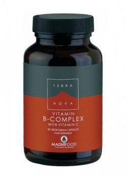 B-COMPLEX CON VITAMINA C 100 CAPSULAS - TERRANOVA - 5060203790202