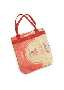 BOLSA SACO CEMENTO RECICLADO ROJA CON FORRO ALGODON - TURTLE BAGS - 5060175230676