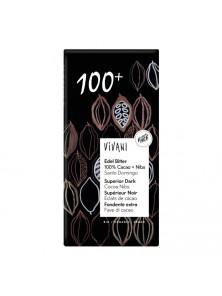 CHOCOLATE NEGRO 100% 80 GR BIO - VIVANI - 4044889004106