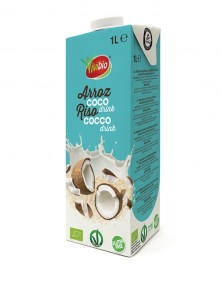 BEBIDA DE ARROZ CON COCO SIN GLUTE 1L - VIVIBIO - 8436545624371
