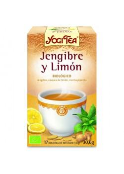 YOGI TEA JENGIBRE-LIMON 17 BOLSITAS BIO - YOGI TEA - 4012824401334