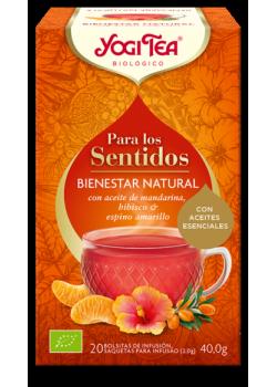 YOGI TEA PARA LOS SENTIDOS BIENESTAR NATURAL 20 BOLSITAS BIO - YOGI TEA - 4012824404762