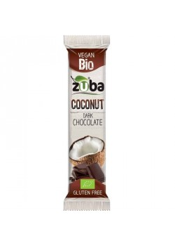 COCONUT BAR DARK CHOCOLATE 53GR BIO - ZUBA - 666016400625
